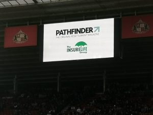 Stadium of Light sign with The InsureLife Group as main sponsor
