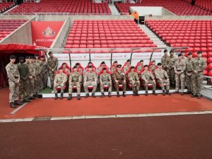 Armed Forces personnel at Sunderland Football Club